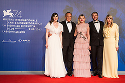 Laura Mulleavy, Alberto Barbera, Kirsten Dunst, Pilou Asbaek, Kate Mulleavy arriving for the premiere of Woodshock as part of the 74th Venice International Film Festival (Mostra) in Venice, Italy, on September 4, 2017. Photo by Marco Piovanotto/ABACAPRESS.COM