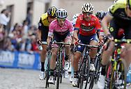 Simon Yates (GBR - Mitchelton - Scott) - Domenico Pozzovivo (ITA - Bahrain - Merida) during the 101th Tour of Italy, Giro d'Italia 2018, stage 11, Assisi - Osimo 156 km on May 16, 2018 in Italy - Photo Roberto Bettini / BettiniPhoto / ProSportsImages / DPPI