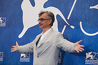 Director Wim Wenders at Les Beaux Jours d'Aranjuez (The Beautiful Days of Aranjuez) film photocall at the 73rd Venice Film Festival, Sala Grande on Thursday September 1st 2016, Venice Lido, Italy.