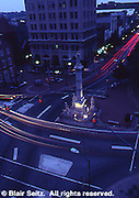 City center, Lancaster, PA, night scene