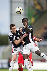 Falkirk's Conor McGrandles and Ollie Durojaiye. Falkirk 0 v 2 Rangers, Scottish Championship game played 15/8/2014 at The Falkirk Stadium.