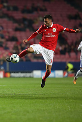 December 5, 2017 - Lisbon, Portugal - Benfica's Greek midfielder Andreas Samaris in action during the UEFA Champions League Group A football match between SL Benfica and FC Basel at the Luz stadium in Lisbon, Portugal on December 5, 2017. (Credit Image: © Pedro Fiuza/NurPhoto via ZUMA Press)