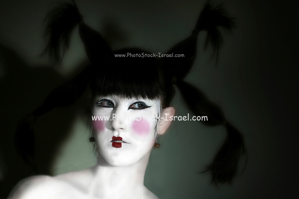Female Model with Japanese style dress and make up