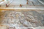 Israel, Lower Galilee, Zippori National Park The city of Zippori (Sepphoris) A Roman Byzantine period city with an abundance of mosaics The Nile House Hunting Scene