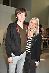 Tom Campbell and Sam Teasdale at the LFW Sponge Bob Gold presentation at The Atrium, The Store Studios, 180 The Strand, London England. 18 February 2017.