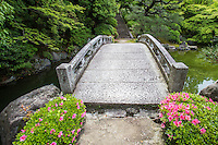 Chion-in Yuzen-en Garden is named after Miyazaki Yuzen the founder of Yuzen style of dyeing silk and fabric.  Two types of garden are found at Yuzen-en garden:  dry karesansui and strolling garden merged into one with two teahouses perched above the gardens.