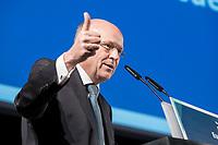 09 NOV 2018, BERLIN/GERMANY:<br /> Prof. Dr. Koen Lenaerts, Praesident des Europaeischen Gerichtshofs, haelt die Europa-Rede, eine jaehrlich wiederkehrende Stellungnahme der hoechsten Repraesentanten der Europaeischen Union zur Idee und zur Lage Europas, organisiert von der Konrad-Adenauer-Stiftung, der Stiftung Zukunft Berlin, der Schwarzkopf Stiftung Junges Europa sowie der Stiftung Mercator, Allianz Forum<br /> IMAGE: 20181109-01-094