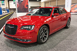 CHARLOTTE, NC, USA - November 11, 2015: Chrysler 300S sports sedan on display during the 2015 Charlotte International Auto Show at the Charlotte Convention Center in downtown Charlotte.