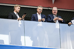 July 3, 2018 - St Petersburg, Russia - Foto : PONTUS ORRE : Sankt Petersburg, 2018-07-02.Näringslivsminster Mikael Damberg och Karl-Erik Nilsson, Svff.Fotbolls-VM, match 55, Sverige - Schweiz Ã¥ttondelsfinalen (Credit Image: © Orre Pontus/Aftonbladet/IBL via ZUMA Wire)