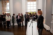 ANN MACGREGOR, MCA Sydney cocktails. Brandon rooms. ICA. London. 11 October 2011. <br /> <br />  , -DO NOT ARCHIVE-© Copyright Photograph by Dafydd Jones. 248 Clapham Rd. London SW9 0PZ. Tel 0207 820 0771. www.dafjones.com.