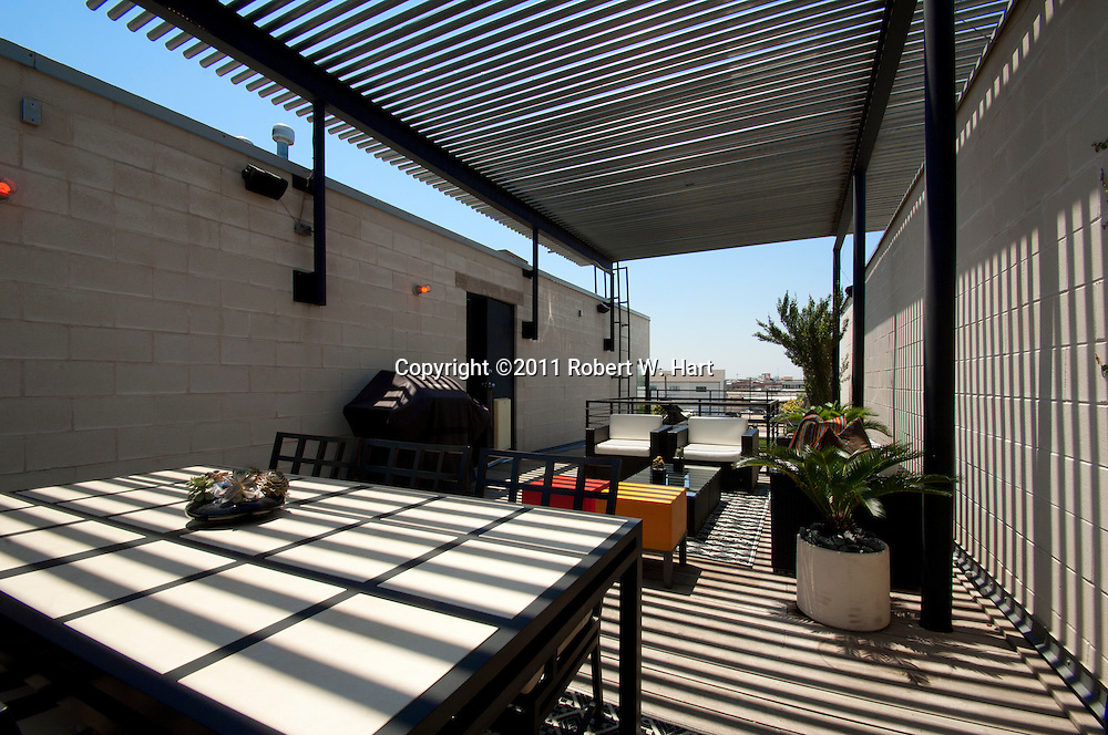 Rooftop patio at Ken Maxwell's home on Monday June 13, 2011...Robert W. Hart/Special Contributor