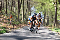 Lizzie Armitstead (Boels Dolmans) leads on the descent through the forests - Flèche Wallonne Femmes - a 137km road race from starting and finishing in Huy on April 20, 2016 in Liege, Belgium.
