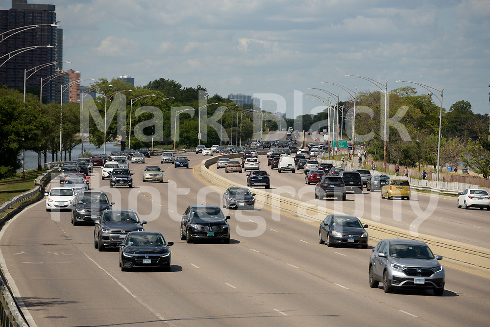 Lake Shore Drive (LSD) at North Avenue in Chicago on Friday, Sept. 4, 2020. Photo by Mark Black