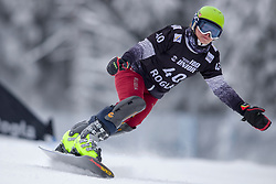 Arvid Auner (AUT) during Final Run at Parallel Giant Slalom at FIS Snowboard World Cup Rogla 2019, on January 19, 2019 at Course Jasa, Rogla, Slovenia. Photo byJurij Vodusek / Sportida