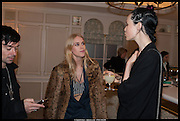 MARY CHARTERIS; EDIE CAMPBELL, Alice in her Palace party, Alice Naylor-Leyland launch of her  blog, Alice in her Palace, Drawing Room at Fortnum & Mason. 27 March 2014