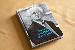 New book Kultura in politika of Janko Kos, Slovene writer; Janko Kos, slovenski knjizevni teoretik, literarni komparativist, zgodovinar in kritik, on March 11, 2021 in Ljubljana, Slovenia. Photo by Vid Ponikvar / Sportida