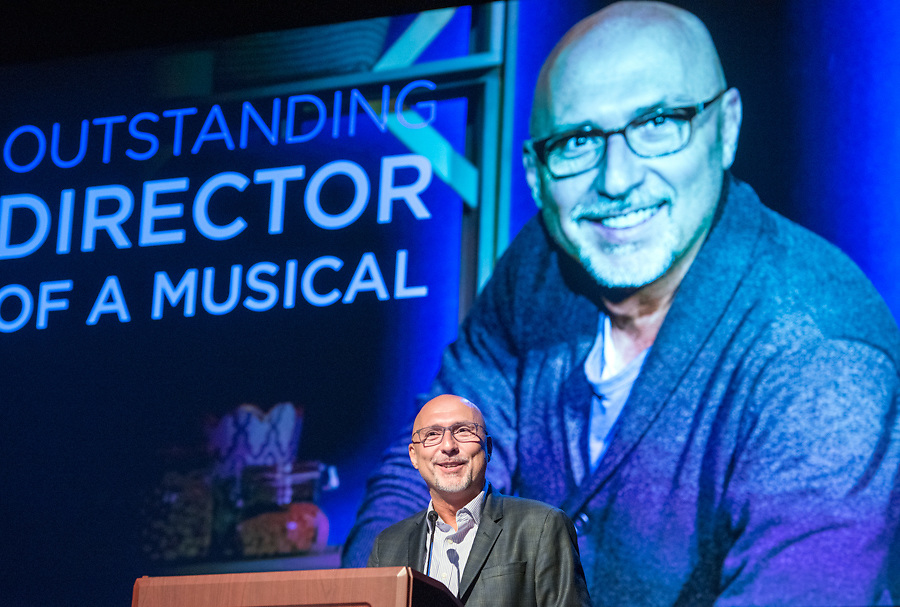 Photo by Mara Lavitt<br /> June 26, 2017<br /> Fairfield, CT<br /> The Connecticut Critics Circle 27th Annual Awards, held at the Edgerton Center for the Performing Arts, Sacred Heart University, Fairfield. Rob Ruggiero.
