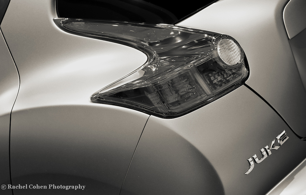 """""""Nissan Juke Nismo"""" 1 mono<br /> <br /> A sleek and cool detail image from the Nissan Juke Nismo!<br /> <br /> Cars and their Details by Rachel Cohen"""