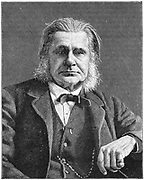 Thomas Henry Huxley (1825-1895) British biologist, supporter of Darwin and evolution. Grandfather of Julian and Aldous Huxley. Engraving.