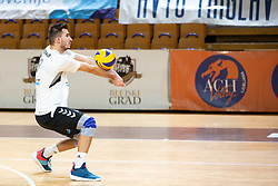 Primoz Vidmar of Calcit Volley during volleyball match between ACH Volley and OK Calcit Volley of 1. DOL Slovenian National Championship 2018/19, on October 27, 2018 in Hala Tivoli, Ljubljana, Slovenia. Photo by Klemen Brumec / Sportida