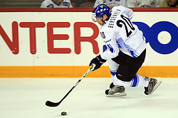 Sean Bergenheim of Finland  at ice-hockey match Finland vs Germany (they played in replika jerseys like they were in year 1932) at Preliminary Round (group C) of IIHF WC 2008 in Halifax, on May 03, 2008 in Metro Center, Halifax, Canada. (Photo by Vid Ponikvar / Sportal Images)Won of Finland 5:1.