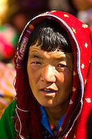 Buddhist monks at the Paro Tsechu (festival), Paro, Bhutan