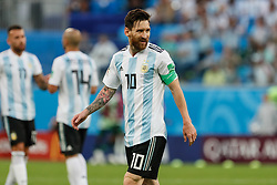 June 26, 2018 - Saint Petersburg, Russia - Lionel Messi of Argentina national team during the 2018 FIFA World Cup Russia group D match between Nigeria and Argentina on June 26, 2018 at Saint Petersburg Stadium in Saint Petersburg, Russia. (Credit Image: © Mike Kireev/NurPhoto via ZUMA Press)