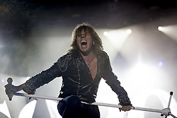 July 2, 2017 - Santa Coloma, Catalonia, Spain - Joey Tempest of Swedish rock band Europe during his performance at Rock Fest Barcelona 2017 Festival in Santa Coloma, Spain on July 02, 2017  (Credit Image: © Miquel Llop/NurPhoto via ZUMA Press)