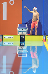 JAKARTA, Aug. 24, 2018  Sun Yang of China is seen before men's 1500m freestyle final of swimming at the 18th Asian Games in Jakarta, Indonesia, Aug. 24, 2018. (Credit Image: © Pan Yulong/Xinhua via ZUMA Wire)