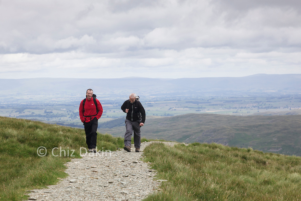 Walkers on the newly laid path from High Street to Mardale Ill Bell