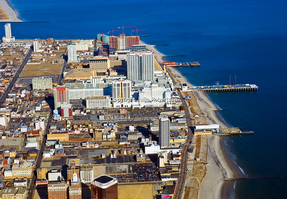 Aerial view of Atlantic City, New Jersey view north as seen in 2009.