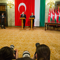 Photographers work as Recep Tayyip Erdogan (L) Prime Minister of Turkey and his counterpart Viktor Orban (R) talk during a press conference in Budapest, Hungary on February 05, 2013. ATTILA VOLGYI