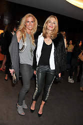 Left to right, LAURA COMFORT and KIM HERSOV at the launch of Samsung's NX Smart Camera at charity auction with David Bailey in aid of Marie Curie Cancer Care at the Bulgari Hotel, 171 Knightsbridge, London on 14th May 2013.