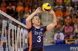 20150613 NED: World League Nederland - Finland, Almere<br /> De Nederlandse volleyballers hebben hun vierde zege in vijf World League-duels geboekt. Zes dagen na de pijnlijke 0-3 tegen België, werd in Almere Finland met 3-0 (25-20, 25-14, 25-18) verslagen / Daan van Haarlem