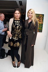 Left to right, STELLA SCHNABEL and MEREDITH OSTROM at an exhibition of paintings by artist Rene Richard at the Scream Gallery, Bruton Street, London on 3rd April 2008.<br />
