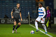 Queens Park Rangers (QPR) midfielder Bright Osayi-Samuel (11) dribbling during the EFL Sky Bet Championship match between Queens Park Rangers and Rotherham United at the Kiyan Prince Foundation Stadium, London, England on 24 November 2020.