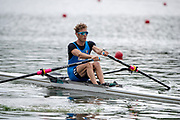 "Glasgow, Scotland, ""2nd August 2018"", Lightweigth Men's Single Scull, ITA LM1X, GORETTI, Martino, European Games, Rowing, Strathclyde Park, North Lanarkshire, © Peter SPURRIER/Alamy Live News"