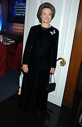 The DOWAGER DUCHESS OF BEDFORD at the Cartier Racing Awards held at the Four Seasons Hotel, Hamilton Place, London W1 on 16th November 2005.<br /><br />NON EXCLUSIVE - WORLD RIGHTS