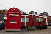 Santa Claus' giant red post box in Nuuk, Greenland. Photo Copyright 2009 Dave Walsh