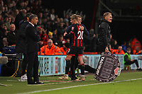 Football - 2018 / 2019 Premier League - AFC Bournemouth vs. Brighton & Hove Albion<br /> <br /> Bournemouth's David Brooks gets a pat on the back from Bournemouth's Manager Eddie Howe after his two goals gave the cherries a  win at the Vitality Stadium (Dean Court) Bournemouth <br /> <br /> COLORSPORT/SHAUN BOGGUST