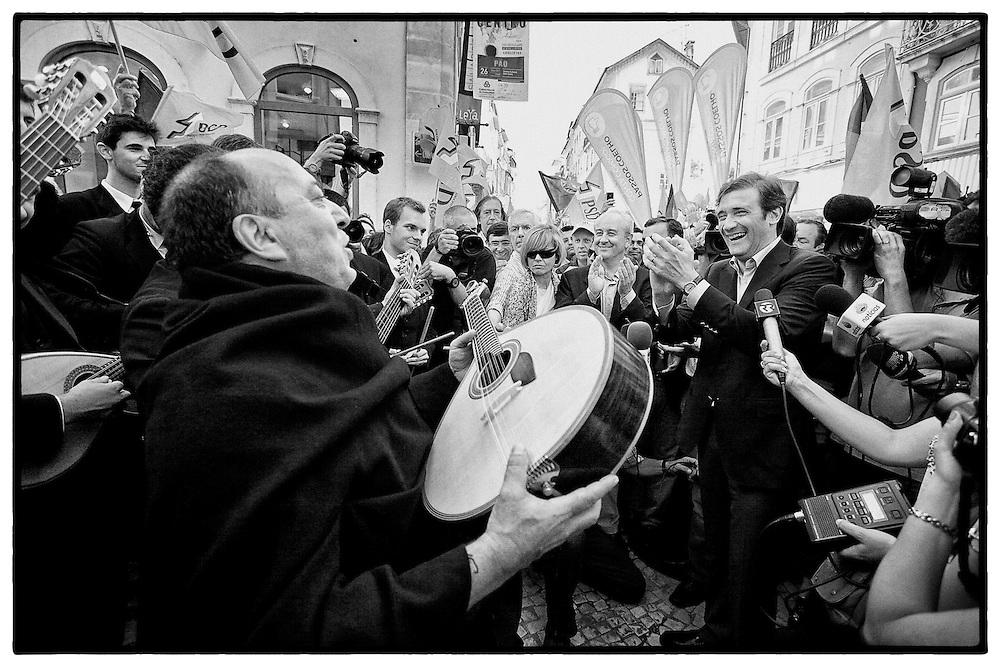 Rui Rio e Passos Coelho na Campanha do PSD para Legislativas 2011 em Coimbra