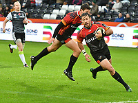 Rugby Union - 2019 / 2020 Guinness Pro14 - Ospreys vs. Southern Kings<br /> <br /> Erick Cronje,  of Southern Kingsa try  from the restart, at The Liberty Stadium.<br /> <br /> COLORSPORT/WINSTON BYNORTH
