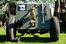 Rufford Abbey 1940's Weekend - Light Field Gun<br /> <br />  30 September 2017 <br />   Copyright Paul David Drabble<br />   www.pauldaviddrabble.co.uk