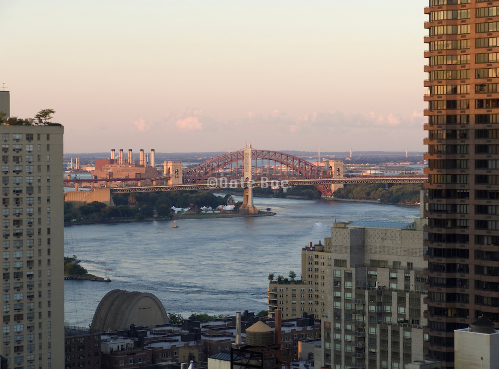New York City view towards Triborough Bridge and Astoria
