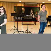 NLD/Amsterdam/20170109 - 1e Repetitiedag musical 'Into the Woods', Elise Schaap en Paul Groot