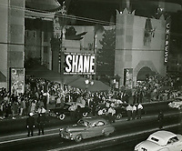 1953 Premiere of Shane at Grauman's Chinese Theater