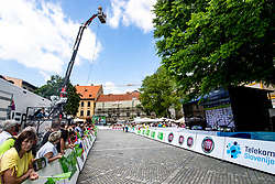 Finish line during the 5th Stage of 27th Tour of Slovenia 2021 cycling race between Ljubljana and Novo mesto (175,3 km), on June 13, 2021 in Slovenia. Photo by Matic Klansek Velej / Sportida