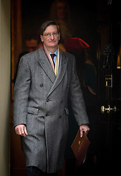 © London News Pictures. 26/02/2013. London, UK.     Attorney General for England and Wales, Dominic  Grieve, QC MP leaving  Downing Street following cabinet meeting. Photo credit: Ben Cawthra/LNP.