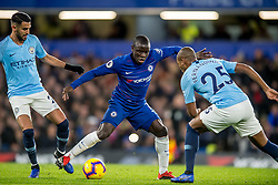 December 8, 2018 - London, Greater London, England - Ngolo Kanté of Chelsea during the Premier League match between Chelsea and Manchester City at Stamford Bridge, London, England on 8 December 2018. Photo by (Credit Image: © AFP7 via ZUMA Wire)
