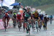 Arrival Sam Bennett (IRL - Bora - Hansgrohe) celebration during the 101th Tour of Italy, Giro d'Italia 2018, stage 12, Osimo - Imola 213 km on May 17, 2018 in Italy - Photo Dario Belingheri / BettiniPhoto / ProSportsImages / DPPI